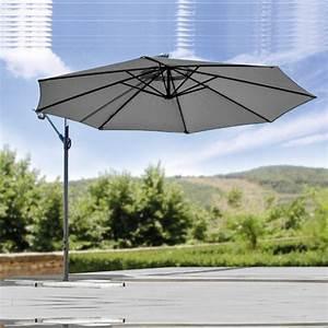 Parasol Déporté Aluminium : parasol d port en aluminium discount alimentaire norma ~ Teatrodelosmanantiales.com Idées de Décoration