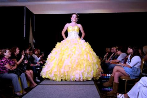 Quinceanera Dresses In Gold, Red, And Yellow