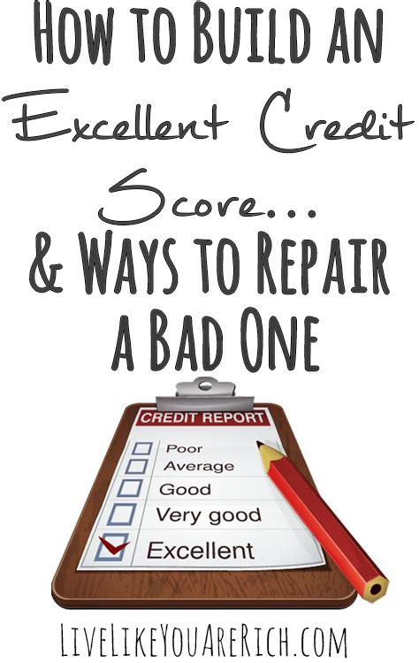 How To Build An Excellent Credit Score & Ways To Repair A