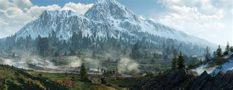Witcher Animated Wallpaper - ultrawide landscape nature photography the witcher
