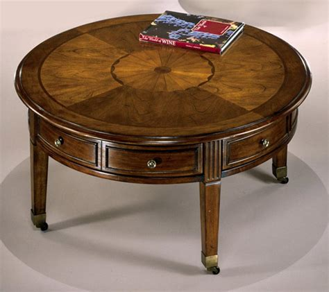 It becomes an impromptu appetizer buffet when it's time to entertain. Round Vintage Coffee Table | Coffee Table Design Ideas