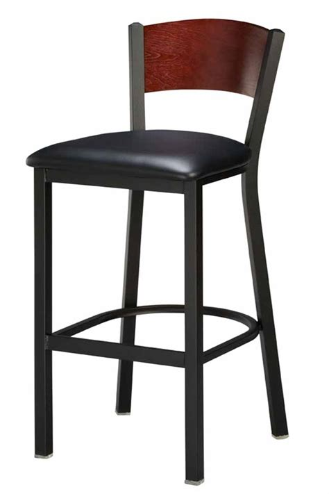 regal seating 1316 back commercial bar stool w wood