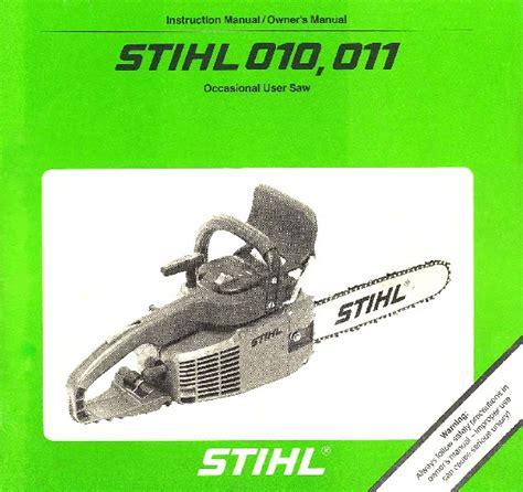 Stihl 011 Av Parts Manual