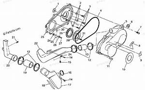 Polaris Atv 1998 Oem Parts Diagram For Clutch Cover