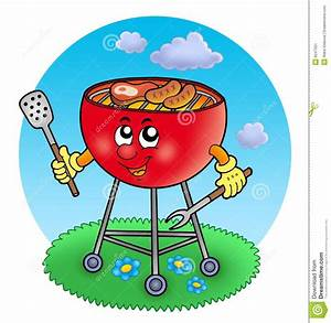 Jardin Dessin Couleur : barbecue de dessin anim dans le jardin image stock ~ Melissatoandfro.com Idées de Décoration