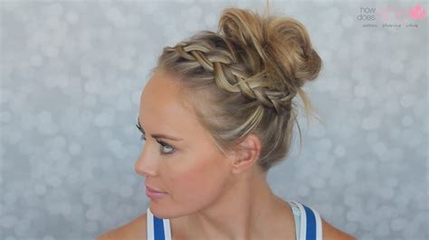 simple  cute gym hairstyle   easy   youtube