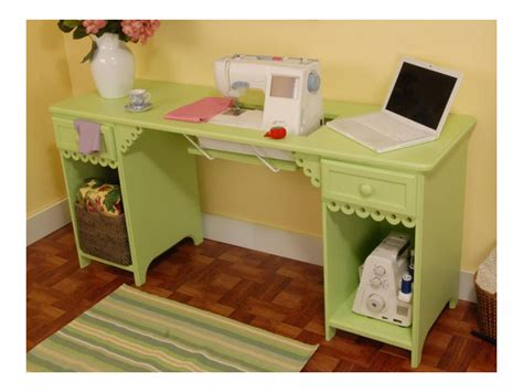sewing machine desk pistachio sewing machine table desk by arrow