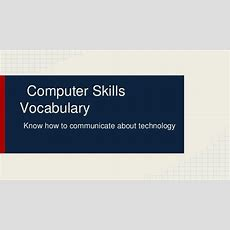 Computer Skills Vocabulary