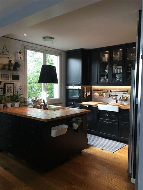 Les 20 meilleures idu00e9es de la catu00e9gorie Cuisine ikea noire sur Pinterest | Ikea.c Cuisine ...