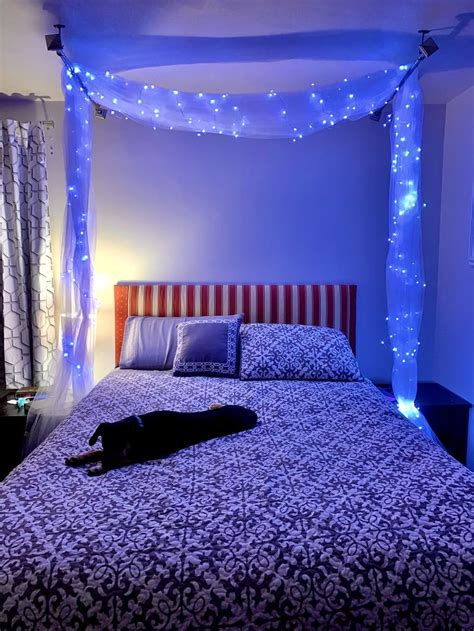 canopy bed gorgeous   budget   bedroom wall designs fairy lights bedroom