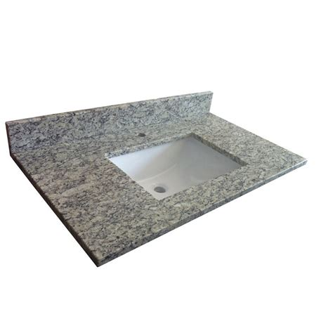 vanity tops lowes allen roth brown granite vanity top with undermount
