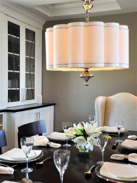 scalloped shade pendant contemporary dining room