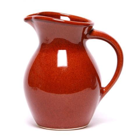Ceramic Iced Tea Pitcher   Copper Clay Glaze