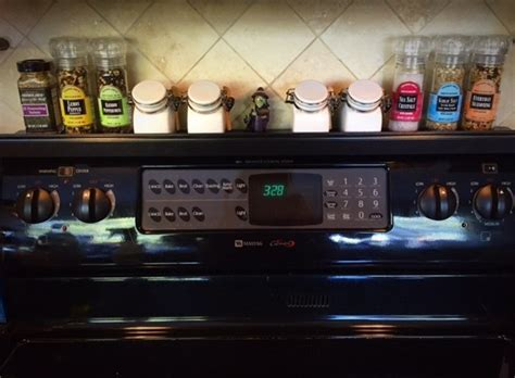 Spice Rack Stove by Stovetop Spice Rack Ikea Hackers