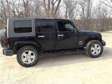crashed jeep wrangler purchase used 2010 jeep wrangler sahara 4 door 4x4 salvage