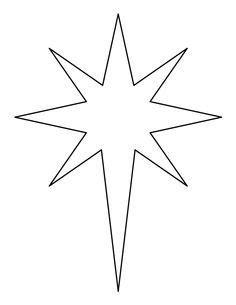 christmas star printable bethlehem star pattern