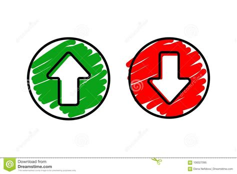 Set Icon Arrow Up And Down Stock Vector. Illustration Of
