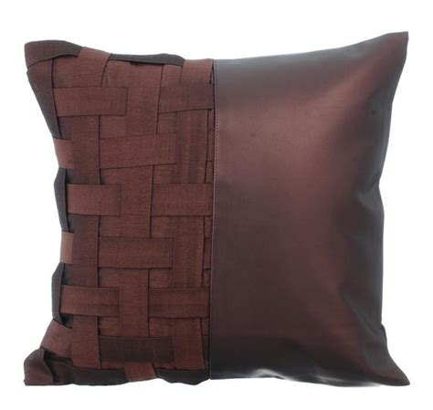 Throw Pillows On Leather by Decorative Throw Pillow Cover Accent Pillow Sofa Leather