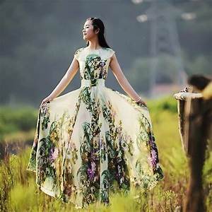 Kleid Hochzeitsgast Lang : original langes chiffon kleid blumen sommerkleid von robe d 39 origine auf kleider in ~ Eleganceandgraceweddings.com Haus und Dekorationen