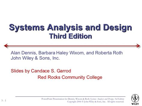 system analysis and design system design and analysis 1