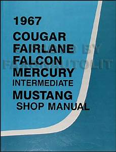 1967 Mercury Cougar Wiring Diagram Manual Reprint