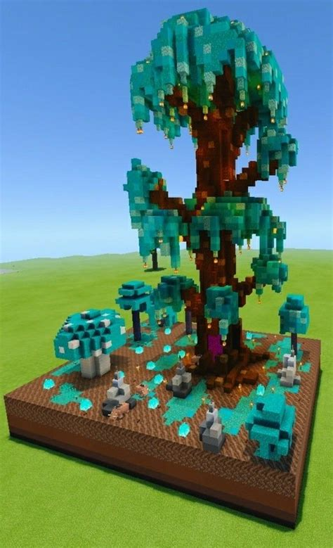 giant nether tree   portal      blocks minecraftbuilds