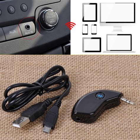 mm car aux wireless bluetooth receiver adapter audio stereo  home phone ebay