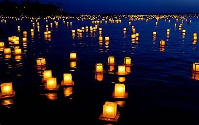 Festival Lights Floating Lanterns Wallpapers Desktop Computer