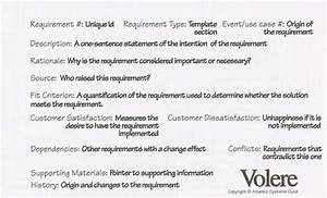 figure 1 the volere shell for capturing requirements With volere template free download