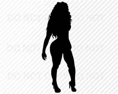 Woman Silhouette Curvy Diva African American Svg