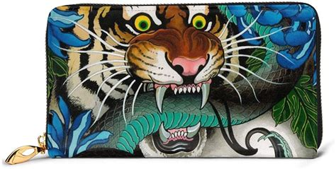 The membership fee is cheaper than the original amex card. Amazon.com: Japanese Tiger Snake Waterfall Printed Leather Wallet Women Zip Purse Clutch Bag ...