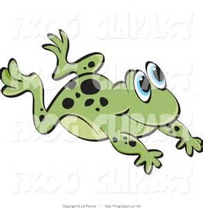 Hopping Frog Clip Art