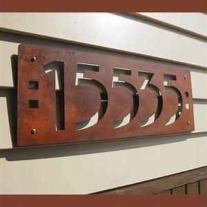 large prairie style house numbers house style design With large house letters