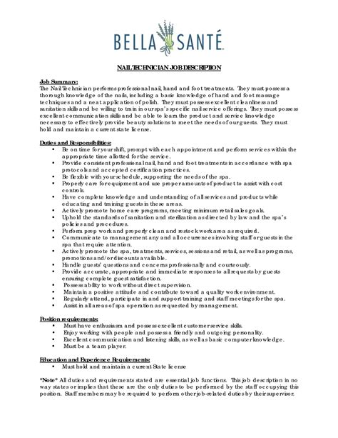 Nail Tech Resume by Printer Technician Resume Sales Technician Lewesmr