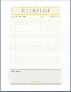 To Do List Template Microsoft Word