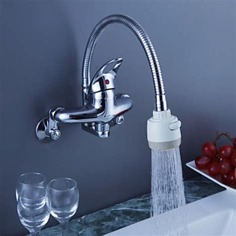 wall mounted kitchen faucets india chrome finish brass kitchen faucet with spout