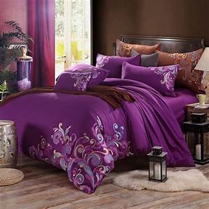 Purple, Fancy, Swirl, Design, Modern, Bohemian, Style, Elegant, Girls, Noble, Excellence, 100, Cotton, Full