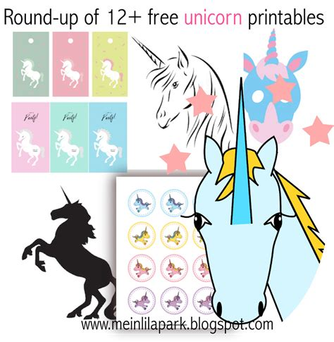 12 free unicorn printables einhorn up meinlilapark