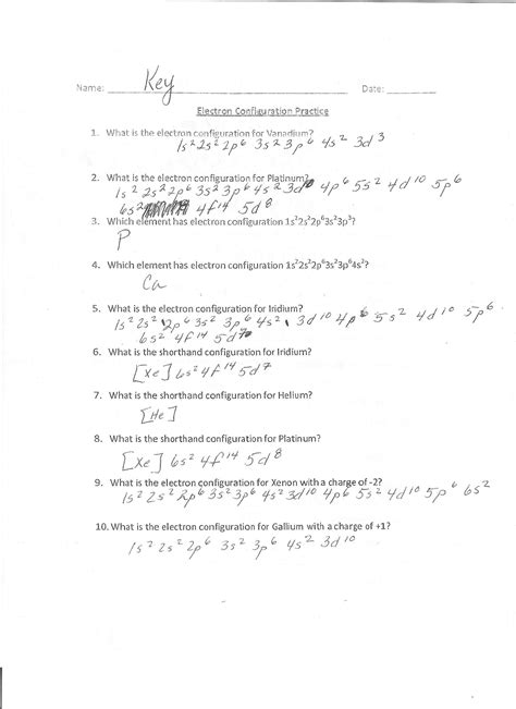 worksheet electron distributions key free printables worksheet