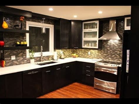 Dark Kitchen Cabinets With Light Countertops And Floors