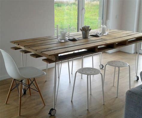 Plan Bureau En Palette by Diy Pallet Dining Table