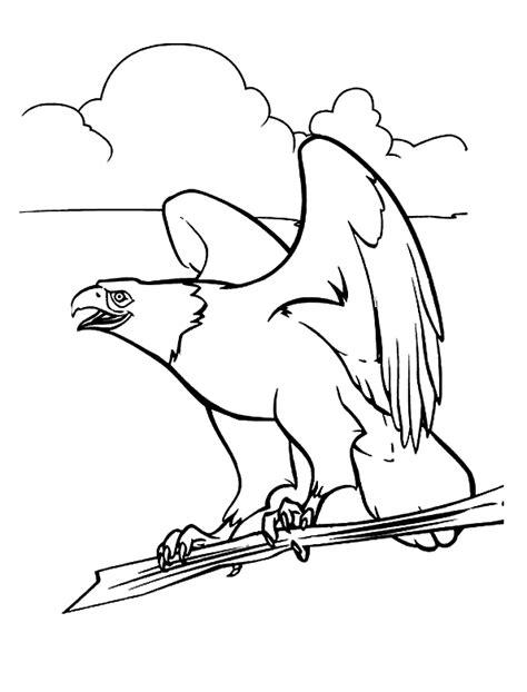 Disegni da colorare Aquila e Spirito
