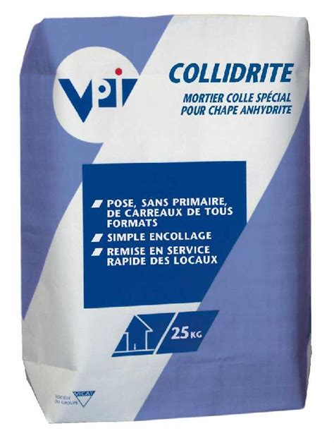 mortier colle special pour chape anhydrite collidrite