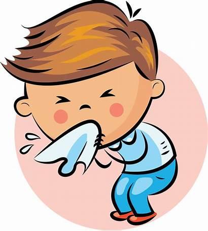 Nose Cartoon Clipart Tissue Transparent Someone Sneezing