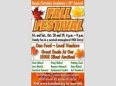 Fall Festival Kauaicom Events Calendar