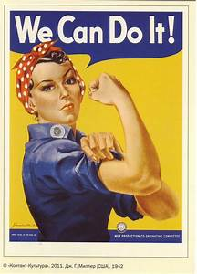Modern Postcard of WWII Rosie the Riveter We Can Do It