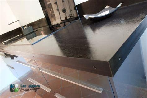 plan de travail en b ton cir cuisine plan travail cuisine beton cire de la cuisine par