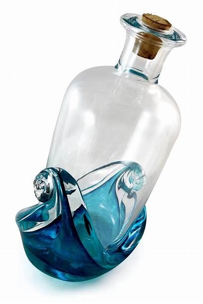 Bottle Message Glass Sculpture Underwood Artfulhome Richardson