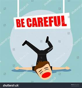 Boys Cartoon Character Be Careful Stock Vector 266228750 ...