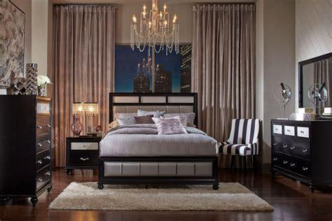 barzini black platform bedroom set  coaster furniture